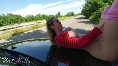Hooker fucked on the car hood for cash in a public street - Korian sex full movie