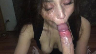 Youjiz xnx - Russian girl crazy sucks big cock and cums hard