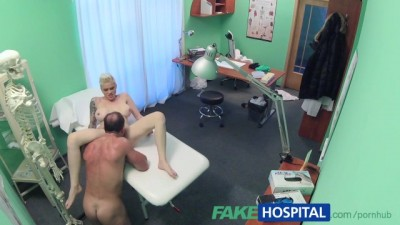 Busty babe patient fucked hard