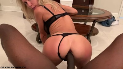 Blonde Busty Loves Interracial BBC