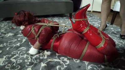 Trapped Gag in Red Fetish