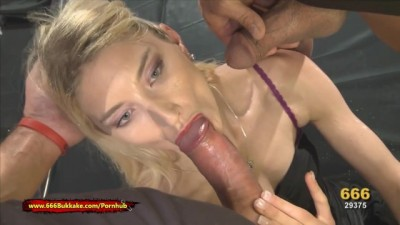 Skinny Blonde Whore is Thirsty for Pee Big Dick