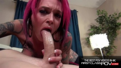 Tattooed Redhead Loves to Suck Monster Cock, Anna Bell Peaks