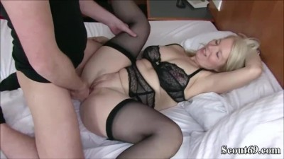 Hot German MILF Caught Young Boy and Seduce him to Fuck