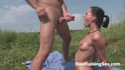 Sexy Aliz Rough Fucked by Lake in Public