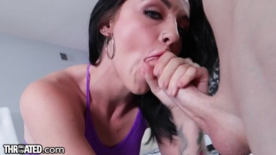 Cute Sexy Brunette Rosalyn Sphinx's Throat Drilled & Fucked