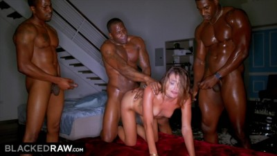 Sexy Brunette Wanted BBC but didn't Expect three