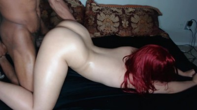 Red Head Beauty Ass Babe Takes it Hard Face down Ass up & Gets Nutted In!