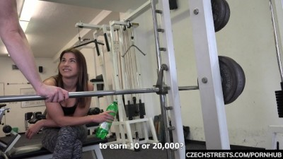 Fitness Coach Pavla Persuaded for Sex at the Gym POV