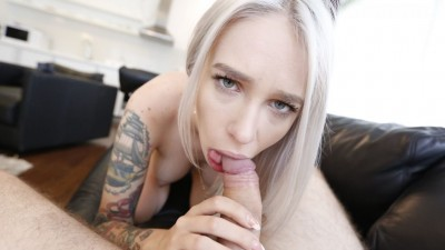 First Date Sex Video of Tattooed Blonde Beauty Met On Snapchat - Part 1