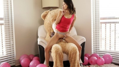 Fucking The Big Valentine Teddy Bear With StepBro Inside S9:E7