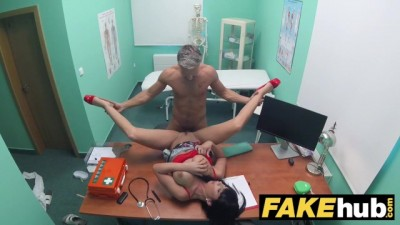 Toilet room blowjob and fucking with big boobs euro patient
